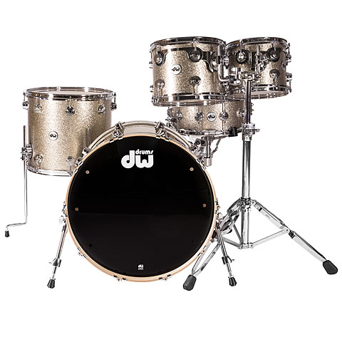 Schlagzeug DW Collector's Finish Ply Nickel Sparkle