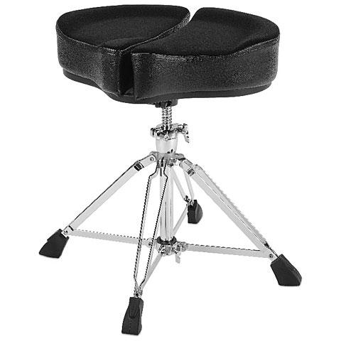 Siège de batterie AHead SPG-BL-4 Spinal Glide Black Saddel Drum Throne