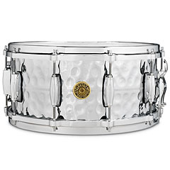 "Gretsch Drums G-4000 USA 14"" x 6,5"" Hammered Chrome over Brass « Caisse claire"