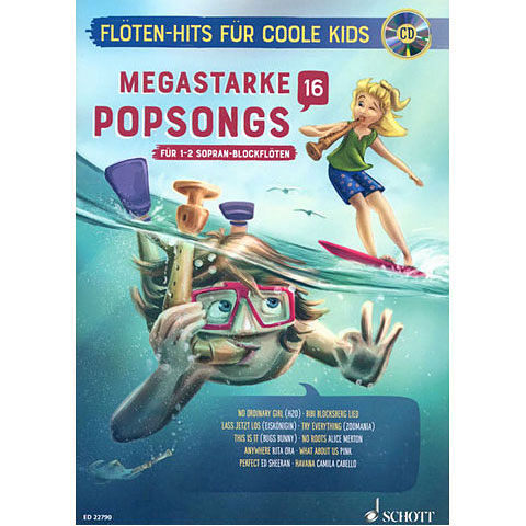 Play-Along Schott Megastarke Popsongs 16