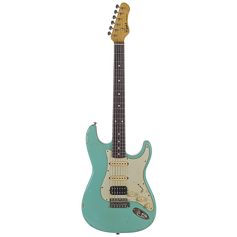Haar Traditional S, Sea Foam Green, Aged, Amber HSS « Electric Guitar