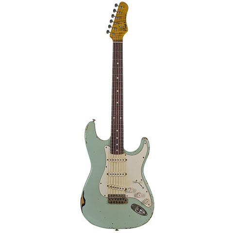 Haar Traditional S, Surf Green over Sunburst, RW « Guitarra eléctrica