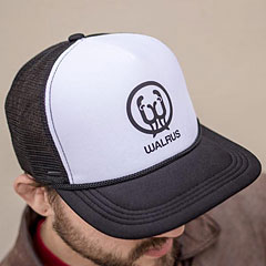 Walrus Audio Black/White Panel Trucker Hat « Gorra