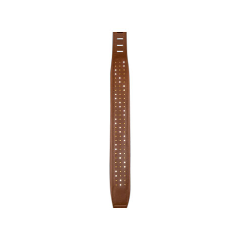 Gitarrengurt DC's LEDs Leather Strap Diamonds Brown