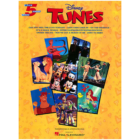 Recueil de Partitions Hal Leonard Disney Tunes
