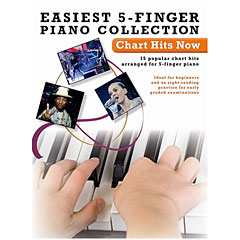 Hal Leonard Easiest 5-Finger Piano Collection: Charts Hits Now « Libro de partituras
