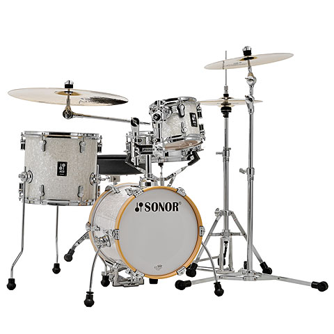 "Batterie acoustique Sonor AQ2 14"" White Pearl Martini Drumset"