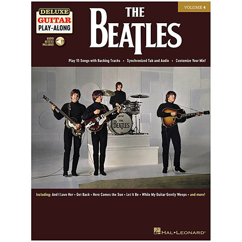Play-Along Hal Leonard Deluxe Guitar Play-Along Vol. 4 - The Beatles