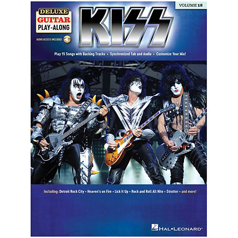 Play-Along Hal Leonard Deluxe Guitar Play-Along Vol. 18 - Kiss