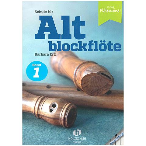 Instructional Book Holzschuh Jede Menge Flötentöne Schule für Altblockflöte Bd. 1 (Klavier)