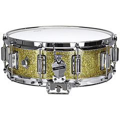 "Rogers Dyna-Sonic 14"" x 5"" Model 36 Beavertail Snare Gold Sparkle Lacquer « Snare drum"