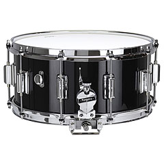 "Rogers Dyna-Sonic 14"" x 6,5"" Model 37 Beavertail Snare Black Gloss Lacquer « Snare drum"