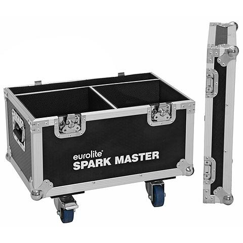 Case para iluminación Roadinger Flightcase 2x Spark Master with wheels