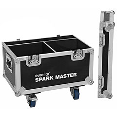 Roadinger Flightcase 2x Spark Master with wheels « Lichtcase