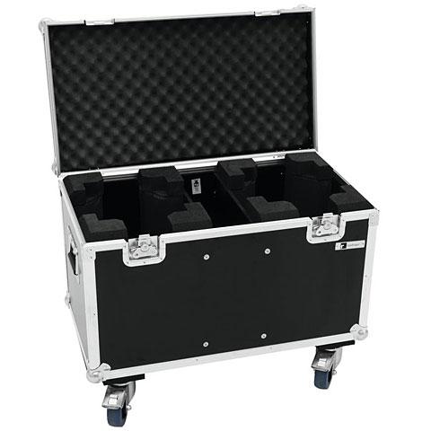 Case para iluminación Roadinger Flightcase 2x TMH-X5 with Wheels