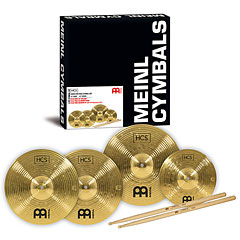 Meinl HCS Three for free Cymbal Set (13HH/14C/10S) Cymbal Set + Sticks « Pack de cymbales