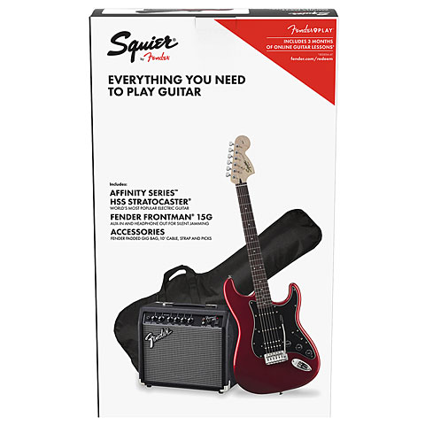 E-Gitarren Set Squier Affinity Strat Pack HSS CAR