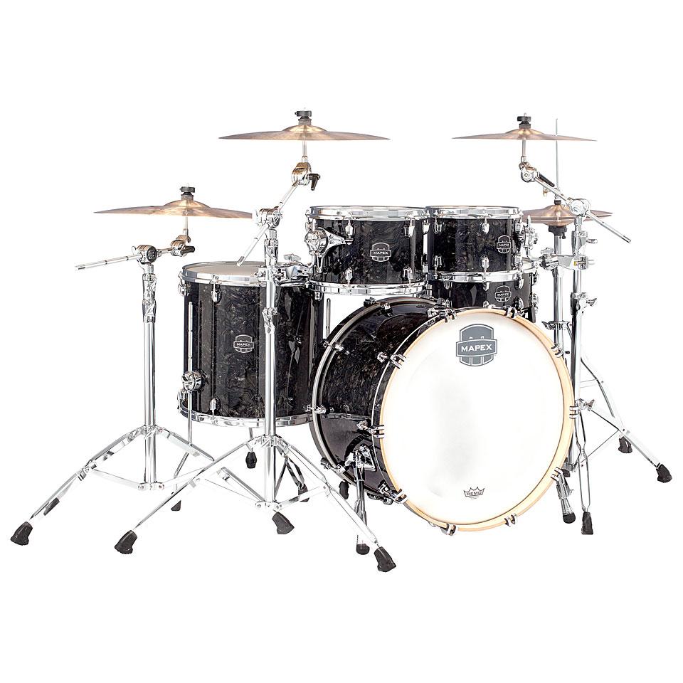 Akustikdrums - Mapex Saturn V MH Tour Edition 22 Black Pearl Schlagzeug - Onlineshop Musik Produktiv
