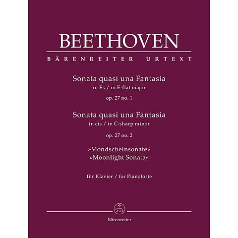 Recueil de Partitions Bärenreiter Beethoven 2 Sonaten op. 27, 1+2