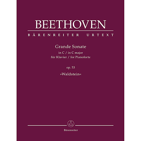 "Music Notes Bärenreiter Beethoven Grande sonate C-Dur op.53: ""Waldstein"""