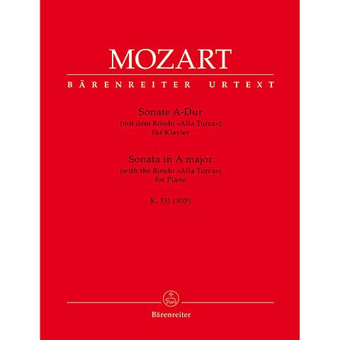 Notenbuch Bärenreiter Mozart Sonate für Klavier A-Dur KV 331