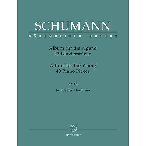 """Libro de partituras Bärenreiter Schumann 43 Klavierstücke für die Jugend op.68 """"Album für die Jugend"""""""