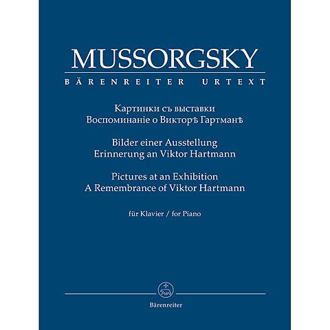 Libro de partituras Bärenreiter Mussorgsky Bilder einer Ausstellung. Erinnerung an