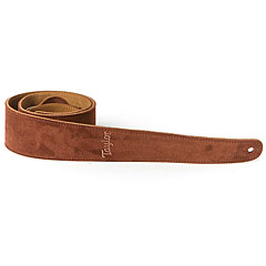 Taylor Embroidered Suede Chocolate Brown « Guitar Strap