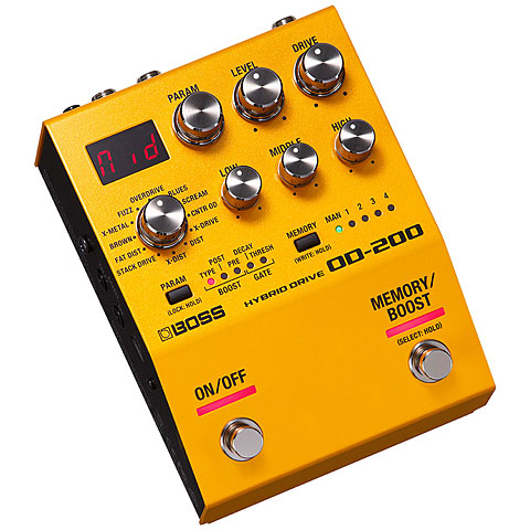 Pedal guitarra eléctrica Boss OD-200 Hybrid Drive