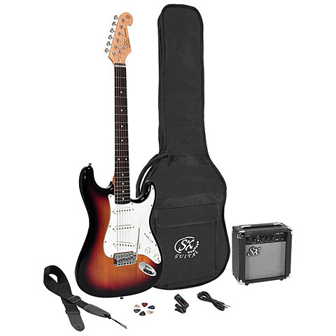 Pack guitare électrique SX Guitars SX SE1SK-3TS + GA1065