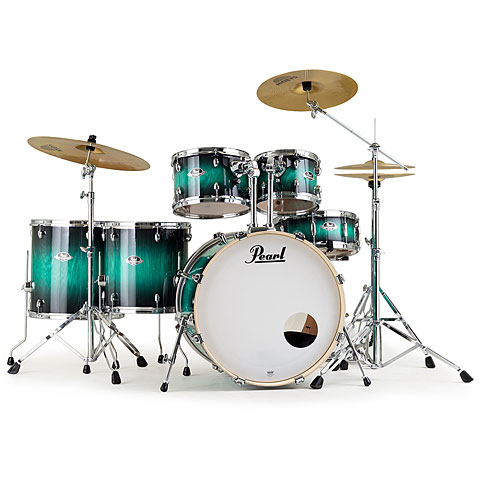 "Pearl Export Artisan 22"" Teal Blue Ash LTD Drumset"