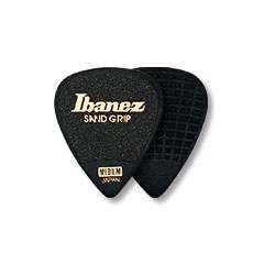 Ibanez Flat Pick Sand Grip schwarz « Médiators