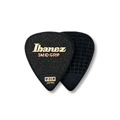 Ibanez Flat Pick Sand Grip schwarz 1,0 mm « Médiators