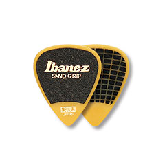 Ibanez Flat Pick Sand Grip gelb 1,0 mm « Plektrum