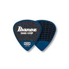 Ibanez Flat Pick Sand Grip blau 0,8 mm « Médiators