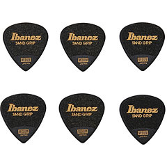 Ibanez Flat Pick Sand Grip schwarz 0,8 mm « Médiators