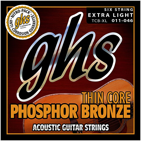 GHS Thin Core Phosphor Bronze Extra Light TCB XL
