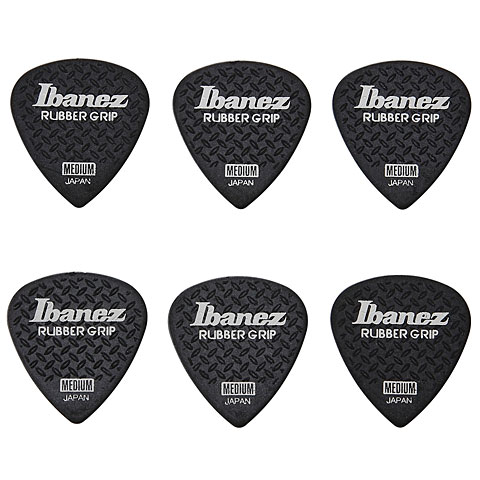 Plektrum Ibanez Flat Pick Rubber Grip schwarz