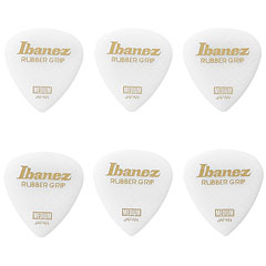 Ibanez Flat Pick Rubber Grip weiß, 0,8 mm « Médiators