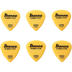 Ibanez Flat Pick Rubber Grip gelb, 0,8 mm « Médiators