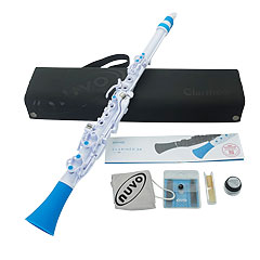 Nuvo Clarinéo 2.0 Standard Kit white-blue « Clarinete