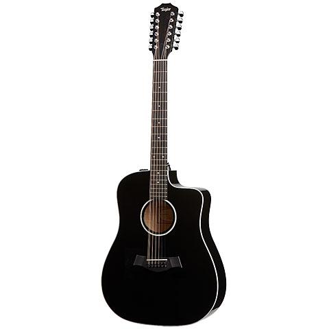 Guitarra acústica Taylor 250ce-BLK DLX