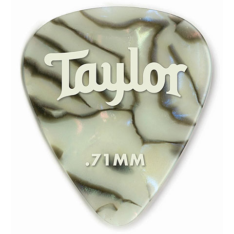 Plectrum Taylor Celluloid 351 Abalone .71mm (12 Stk)