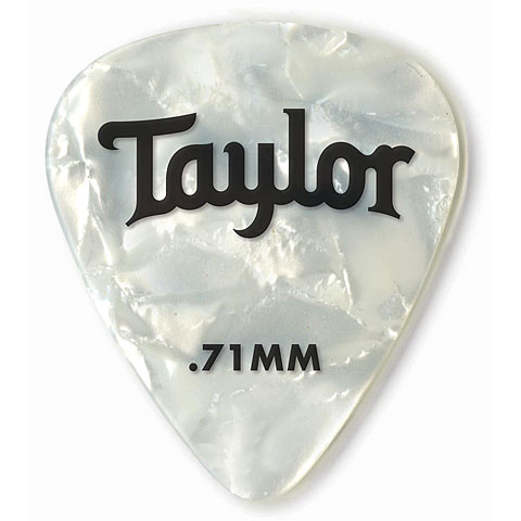 Plectrum Taylor Celluloid 351 White Pearl .71mm (12 Stk)