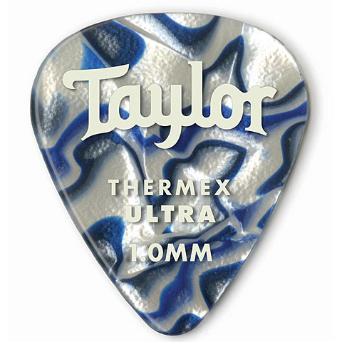 Plektrum Taylor Thermex 351 Blue Swirl 1.0mm (6Stk)