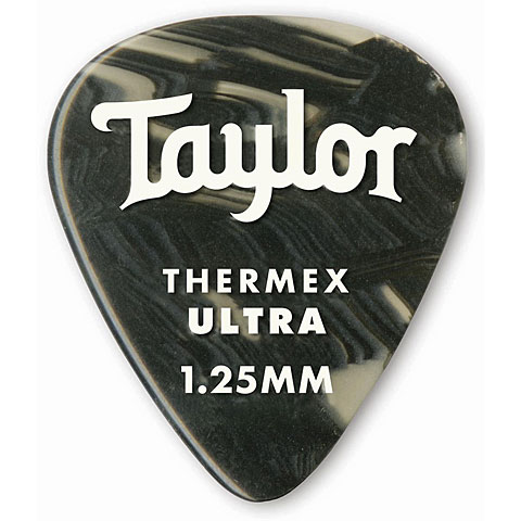 Plektrum Taylor Thermex 351 Black Onyx 1.25mm (6Stk)
