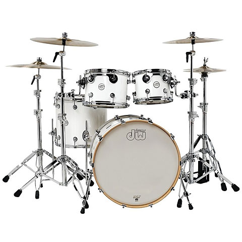 "Batterie acoustique DW Design 22"" White Gloss Shell-Set 4-Pcs."