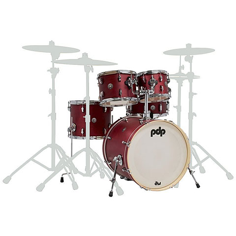 "Batterie acoustique pdp Spectrum 20"" Cherry Stain Shellset"
