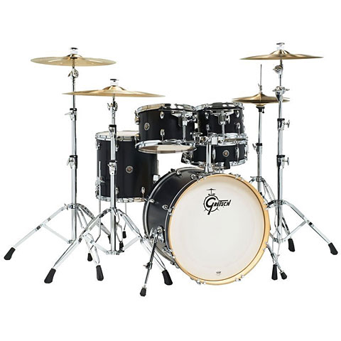 "Batterie acoustique Gretsch Drums Catalina Birch 20"" Ebony Satin Shellset"