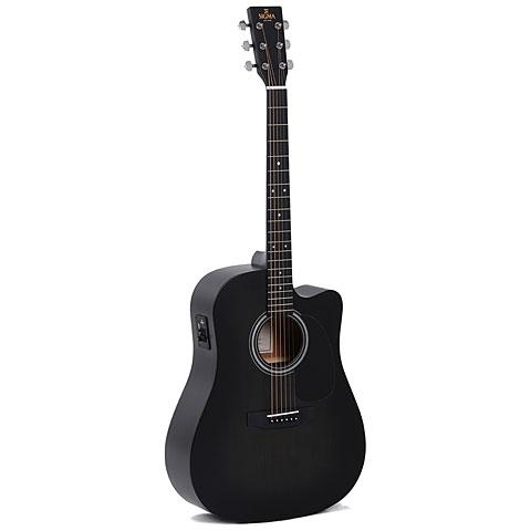 Guitarra acústica Sigma Guitars DMCE-BKB+